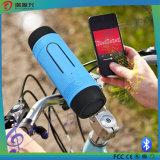 Altofalante sem fio de Bluetooth da bicicleta impermeável com banco da potência e luz do diodo emissor de luz