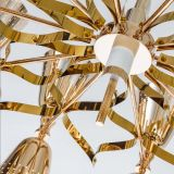 Form-modernes hängendes hängende Lampen-Licht im Nickel für Innendekoration