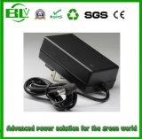 Ladegerät des Shenzhen-OEM/ODM Lieferanten-25.2V1a zur Stromversorgung für Li-Ionbatterie mit kundenspezifischem Netzanschlusskabel