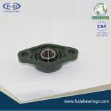 Rolamento do bloco de descanso da carcaça do ferro de molde do cinzento- de cromo UCFL218 para a maquinaria agricultural
