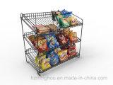 Rek van de Tribune van de Vertoning van het Suikergoed van de Snack van de Supermarkt van de Draad van het metaal het Kleinhandels Regelbare