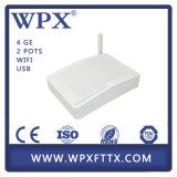 Huawei Zte Ontのために互換性があるWiFi Gpon ONU 4ge+2FXS+WiFi