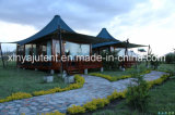De sterke Tent van de Structuur met Safari van de Luxe van de Huid van de Zijwanden van pvc de Dubbele