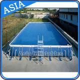 Nuevo diseño sobre la piscina inflable plástica inflable de tierra del corchete del agua de la piscina del marco