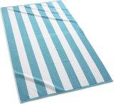 100%年の綿カラーしまのあるプールの浴室タオルのビーチタオル
