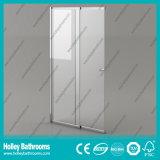 Tela de chuveiro de venda quente da porta deslizante com vidro desobstruído Tempered (SE938C)