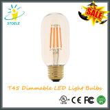 Ampolas do filamento do diodo emissor de luz do bulbo de Stoele T15/T45 Dimmable Edison