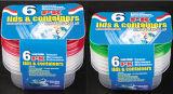 La plastica rettangolare toglie il contenitore di alimento di Microwavable 9.5oz