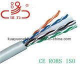 UTP, sólido, CAT6 descubren el cable de Ethernet de cobre, (CMR) cable del audio del conector de cable de la comunicación de cable de datos del cable de /Computer
