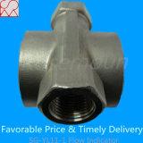 PTFE rueda de paleta de indicadores visuales de caudal con rosca hembra
