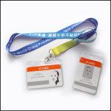 Colhedores impressos da identificação do poliéster garganta feita sob encomenda barata para presentes relativos à promoção