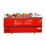 Refrigerador comercial do gabinete profundo da porta deslizante no volume maior