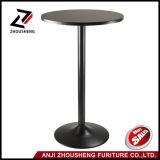 Winsome Obsidianpub-Stab-Tisch-runde Schwarzes MDF-Oberseite mit dem schwarzem Bein und Unterseite