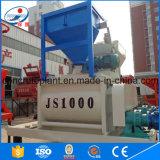 Mezclador concreto horizontal gemelo del eje Js1000 de la alta calidad