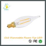 Iluminação do candelabro da ampola do diodo emissor de luz do bulbo C10/C32 do diodo emissor de luz