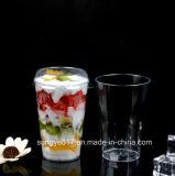 PS Clear 360 Ml Juice & Ice Cream Plastic Cup com capa