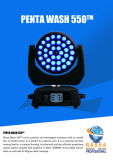 Luz principal móvil ULTRAVIOLETA aprobada Ce de la colada de Rasha Panta 36*15W 5in1 Rgbaw LED del poder más elevado con la función DMX512 Powercon del zoom para el banquete de boda