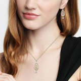 方法アクセサリーの金はネックレスのイヤリングの女性セットをめっきした
