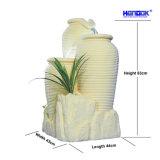 Fonte de água redonda do frasco do Sandstone do diodo emissor de luz da decoração da HOME & do jardim