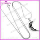 De Juwelen van de Urn van de Crematie van de Halsband van de Tegenhanger van het roestvrij staal (de Halsband van de Maan)