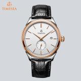 Horloge het van uitstekende kwaliteit van het Kwarts, Mensen 72655 van het Horloge van het Leer