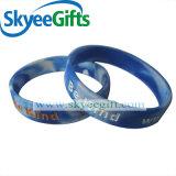 L'alta qualità ha turbinato Wristband del silicone riempito inchiostro