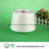 Muestra hecha girar blanca sin procesar de los hilados de polyester disponible