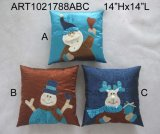 Santa, Snowman et Moose Christma Decoration Pillow-3astst