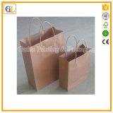 Sacchetto di elemento portante di carta su ordinazione in carta kraft Con stringa di carta