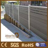 Frontière de sécurité de borne de bondissement composée en plastique en bois du mur WPC