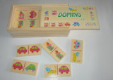 brinquedos de madeira do dominó 28PCS para miúdos e crianças