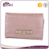 Bolsa extravagante das senhoras, senhora cor-de-rosa Carteira Pequeno Projeto do couro genuíno