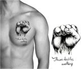 Etiqueta engomada temporal del tatuaje del arte de la etiqueta engomada del tatuaje del puño de moda