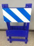 Witte/Oranje Plastic Verkeersveiligheid die Barricade van het Verkeer vouwt