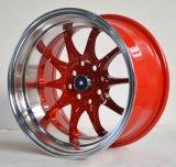 Цветастое колесо сплава с красной стороной