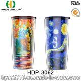 20oz Wholesale doppel-wandiges Plastikcup, freie Plastiktrommel der Förderung-BPA mit Stroh (HDP-3062)