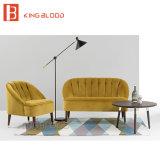 Sofa de luxe de velours de couleur d'or pour le pays européen