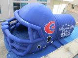 Túnel inflable 2017 del casco del balompié de la promoción para el juego de los deportes
