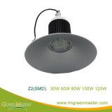 Z2 30W 50W 80W 100W 120W fábrica Almacén LED de alta luz de la bahía