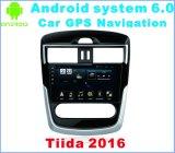 차 GPS 항법을%s 가진 Tiida 2016년을%s 인조 인간 시스템 6.0 자동차 라디오