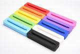 Декоративные ломкие пер силикона канцелярских принадлежностей прямоугольника цвета конфеты & коробка карандаша для студентов