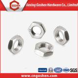 Noix mince Hex DIN439 de l'acier inoxydable 304