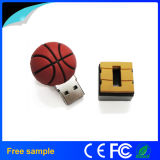 Movimentação do flash do USB da esfera de /Basket do futebol/tênis das sapatas do esporte