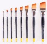 De Nylon Borstel van uitstekende kwaliteit van de Kunstenaar van het Handvat 977angle van het Haar Houten