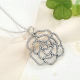Sterlingsilber 925, das Rosen-hängende Halskette, freie CZ-Halsketten u. Anhänger schimmert