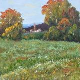 Het mooie Af:drukken van het Canvas van het Landschap van de Kunst van de Muur van het Platteland
