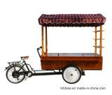 工場からのペダルそして電気コーヒーカートのバイク
