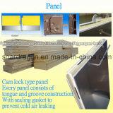 Caminata fácil de los paneles de la PU del bloqueo de la leva de la instalación en cámara fría