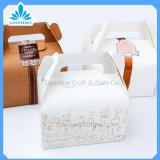 El rectángulo de papel del emparedado con la ventana abierta, rectángulos de papel del conjunto del alimento, saca las cajas de cartón de papel