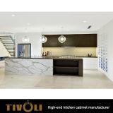 Armadi da cucina puliti semplici di Cusotm con il disegno laminato impiallacciato Tivo-0224h